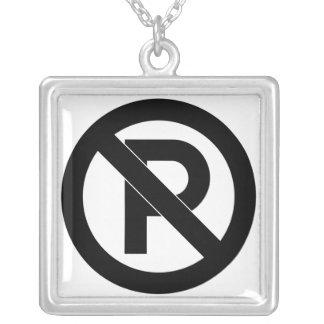 No Parking Symbol Pendants