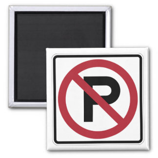 No Parking symbol sign Refrigerator Magnets
