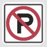 No Parking symbol sign Stickers