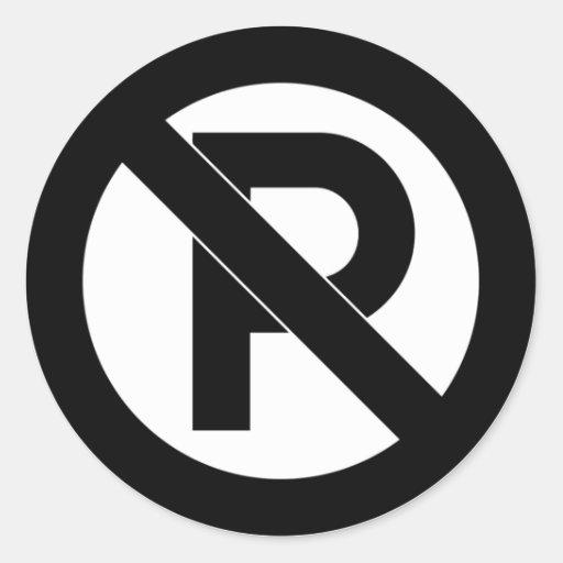 No Parking Symbol Stickers