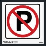 """No Parking Wall Graphic<br><div class=""""desc"""">Classic no parking sign.</div>"""