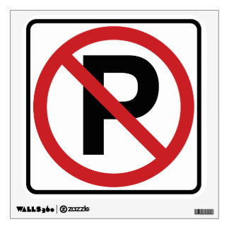 No Parking Wall Graphic