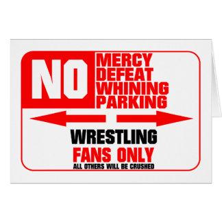 No Parking Wrestling Sign Card