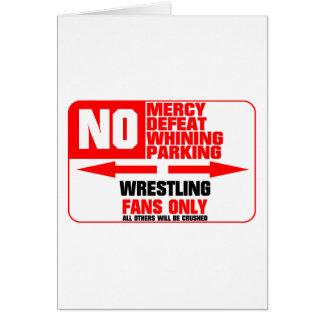 No Parking Wrestling Sign Greeting Card