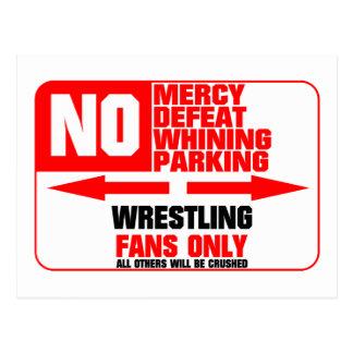 No Parking Wrestling Sign Post Card