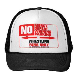 No Parking Wrestling Sign Trucker Hat
