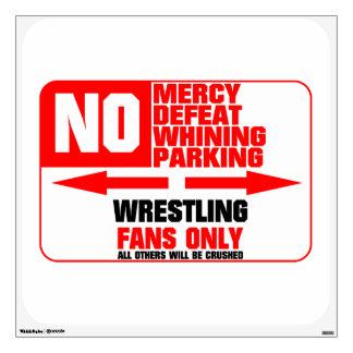 No Parking Wrestling Sign Wall Sticker