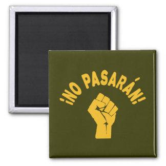 No Pasaran - They Shall Not Pass Fridge Magnets