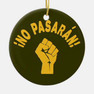 No Pasaran - They Shall Not Pass Christmas Tree Ornaments