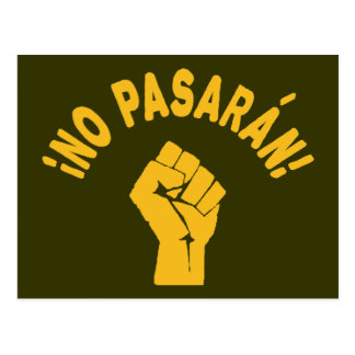 No Pasaran - They Shall Not Pass Post Cards