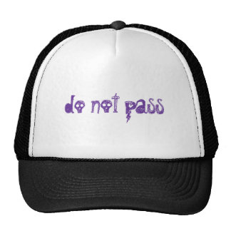 no pase gorras