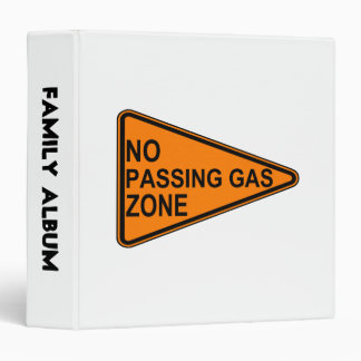 No Passing Gas Road Sign Binder