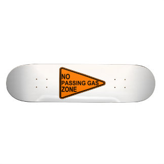 No Passing Gas Road Sign Skateboard Deck