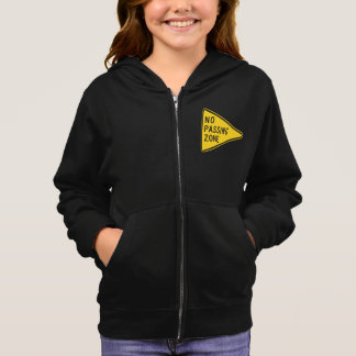 No Passing Zone Girls Hoodie