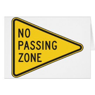 No Passing Zone Note Cards