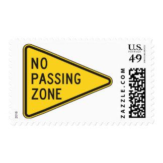 No Passing Zone Postage