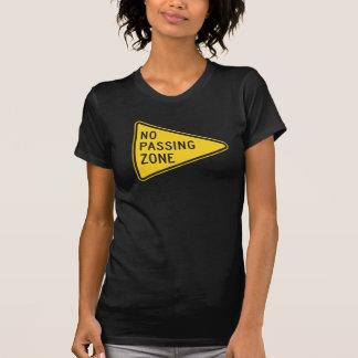 No Passing Zone Womens T-Shirt