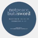 No paz sino un pegatina de la espada