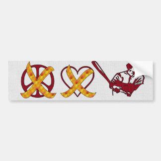 No Peace No Love Just Baseball Bumper Sticker