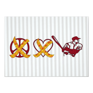 No Peace No Love Just Baseball Card