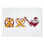 "No Peace No Love Just Baseball 5"" X 7"" Invitation Card"