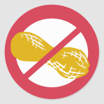 No Peanuts Food Allergy Alert Stickers