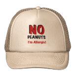 NO Peanuts I'm Allergic Hats