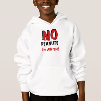 NO Peanuts I'm Allergic Hoodie