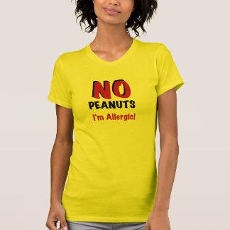 NO Peanuts I'm Allergic Tshirt