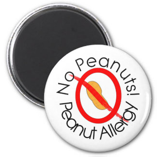 No Peanuts! Peanut Allergy Magnet