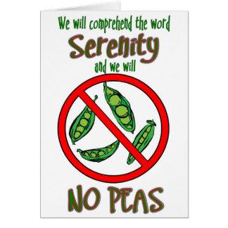 'No Peas' Funny Sobriety Card