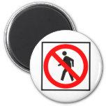 No Pedestrians Highway Sign Fridge Magnet