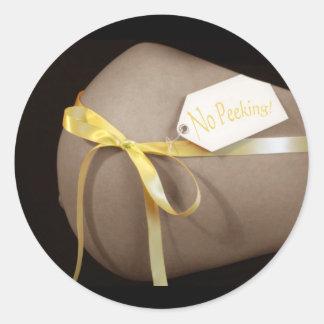 """""""No Peeking"""" Belly Sticker"""