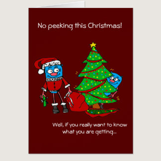 NO peeking Christmas card for Autism Donation