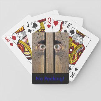 No Peeking Playing Cards