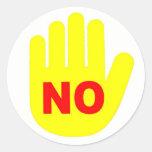 """""""NO"""" pegatina de la mano"""