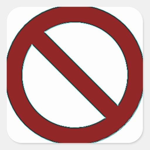 ¡NO! Pegatina del símbolo (pequeño)