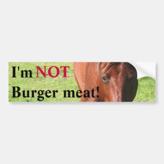 NO pegatina para el parachoques de la carne de la  Pegatina Para Auto
