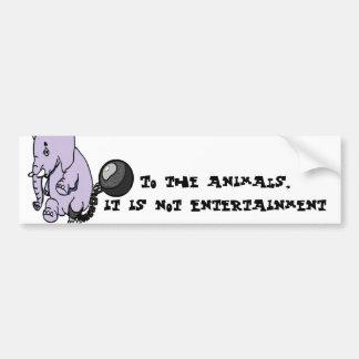 No pegatina para el parachoques del entretenimient pegatina de parachoque