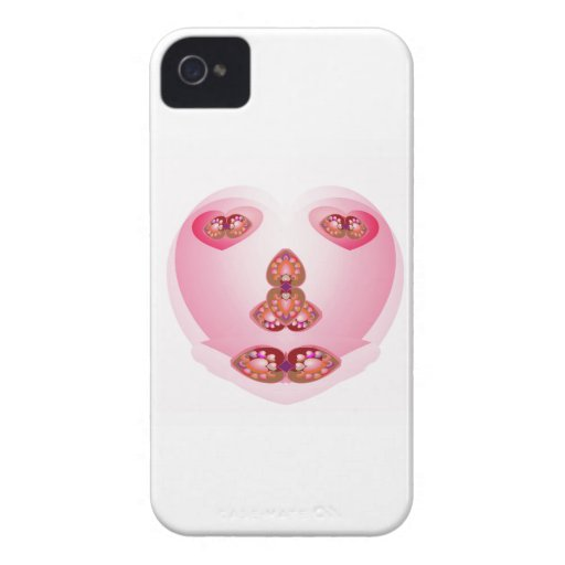 No pen or brush used for this SWEET HEART iPhone 4 Case-Mate Cases