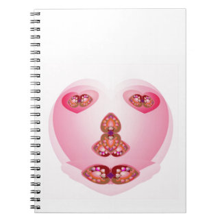 No pen or brush used for this SWEET HEART Spiral Note Book