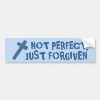 no perfeccionar, apenas perdonado la pegatina para pegatina de parachoque