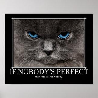 No perfeccione a nadie las ilustraciones del gato póster