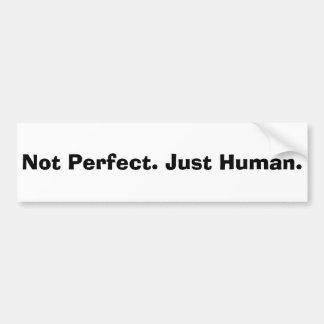 No perfeccione apenas la cita humana pegatina para auto