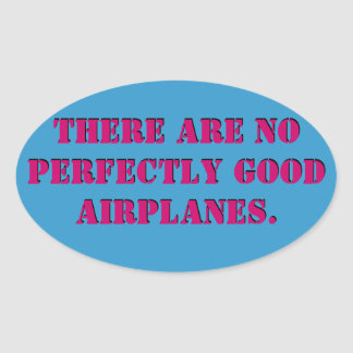 No Perfect Airplanes Sticker