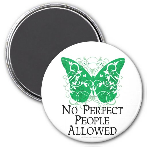 No Perfect People Allowed 3 Inch Round Magnet