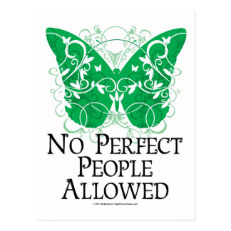 No Perfect People Allowed Postcard