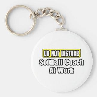 No perturbe… al coche del softball en el trabajo llaveros
