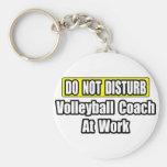 No perturbe… al coche del voleibol en el trabajo llaveros personalizados