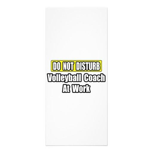 No perturbe… al coche del voleibol en el trabajo tarjeta publicitaria a todo color
